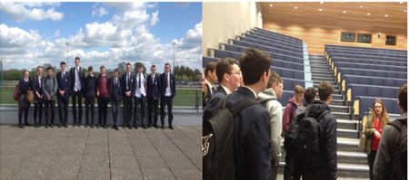 Aspire students visit Bath University for a tour of the campus to see what university life is like.
